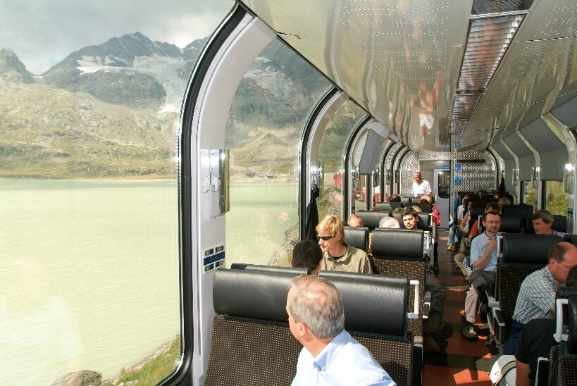 Bernina Express - zwiedzanie Szwajcarii koleją
