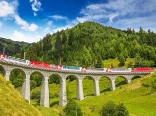 Kolej panoramiczna w Szwajcarii