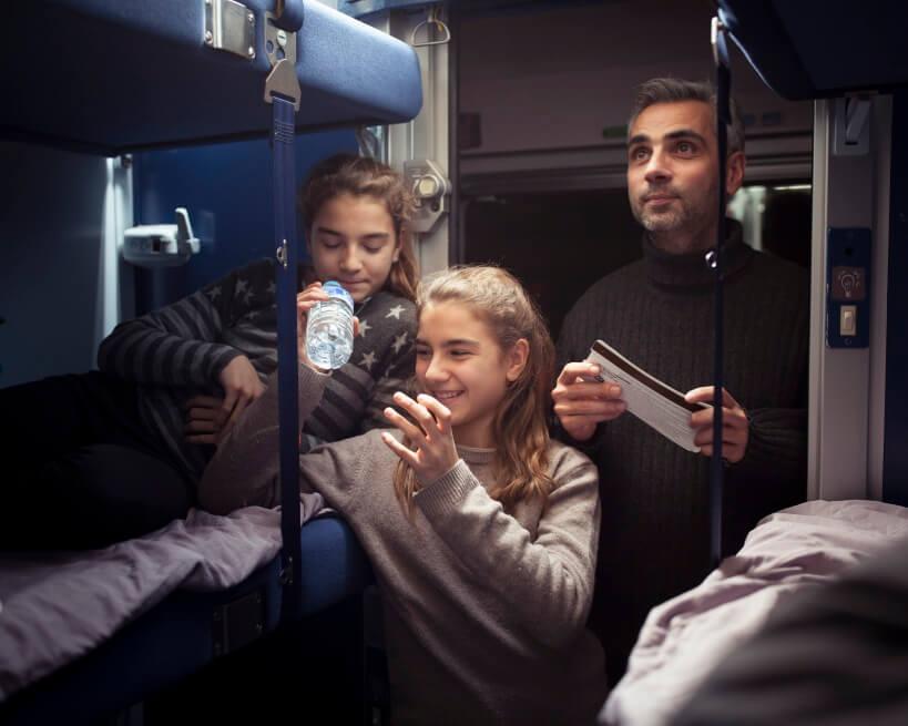 Nocny pociąg we Francji
