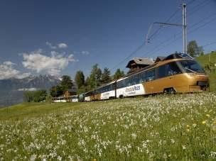 Golden Pass pociąg panoramiczny